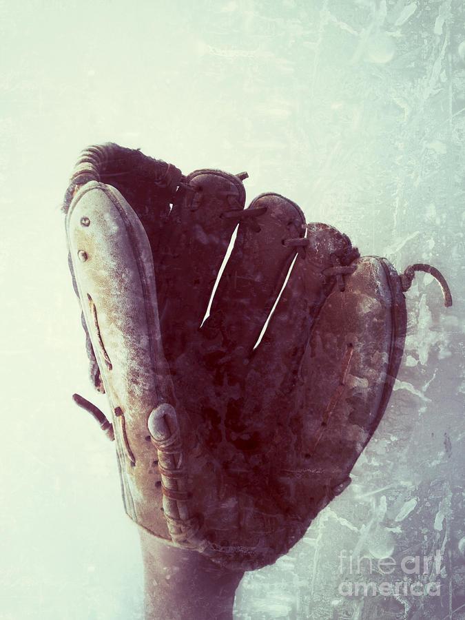 Baseball Glove Photograph - Baseball Glove Vertical by Ruby Hummersmith