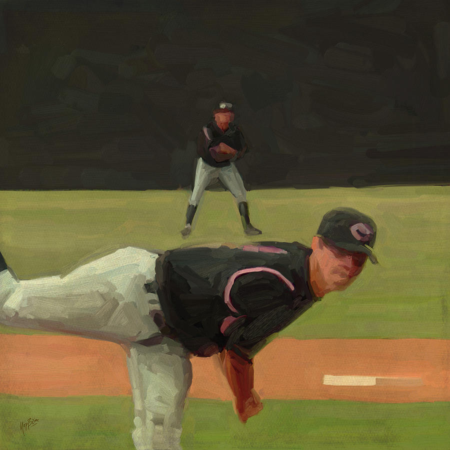 Baseball Kyle Painting  - Baseball Kyle Fine Art Print