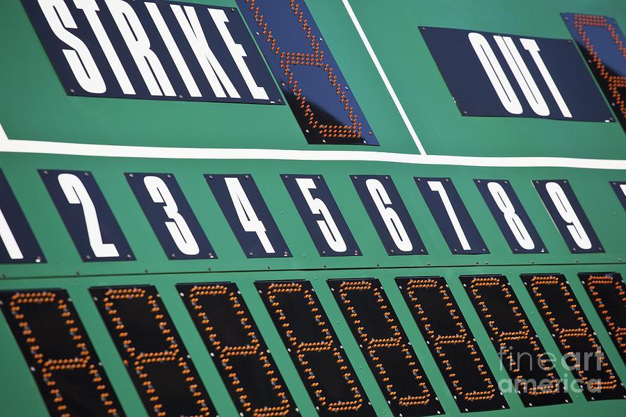 1 Photograph - Baseball Scoreboard by Bryan Mullennix