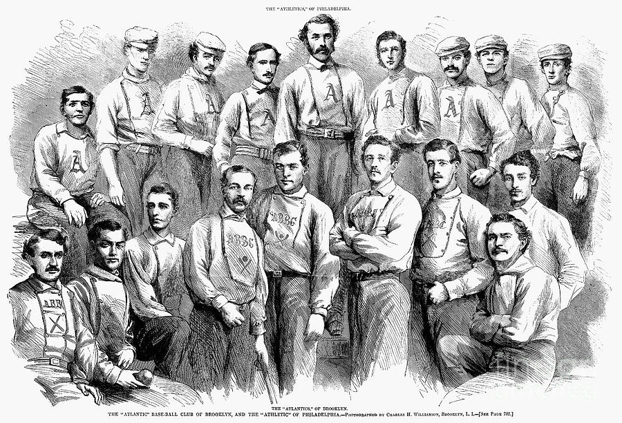 Baseball Teams, 1866 Photograph