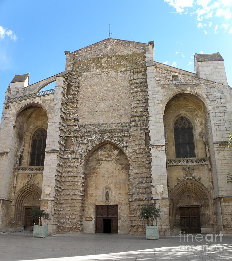 La Basilique Photograph - Basilica Of Saint Mary Madalene by Lainie Wrightson