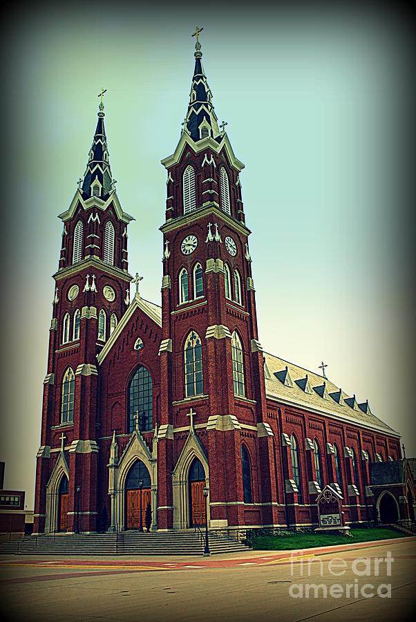 Basilica Of St.francis Xavier In Dyersville Iowa Photograph