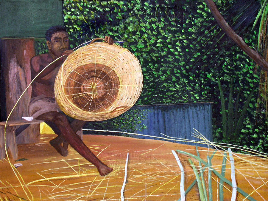 Art Of Basket Making : Basket making painting by kenrick durand