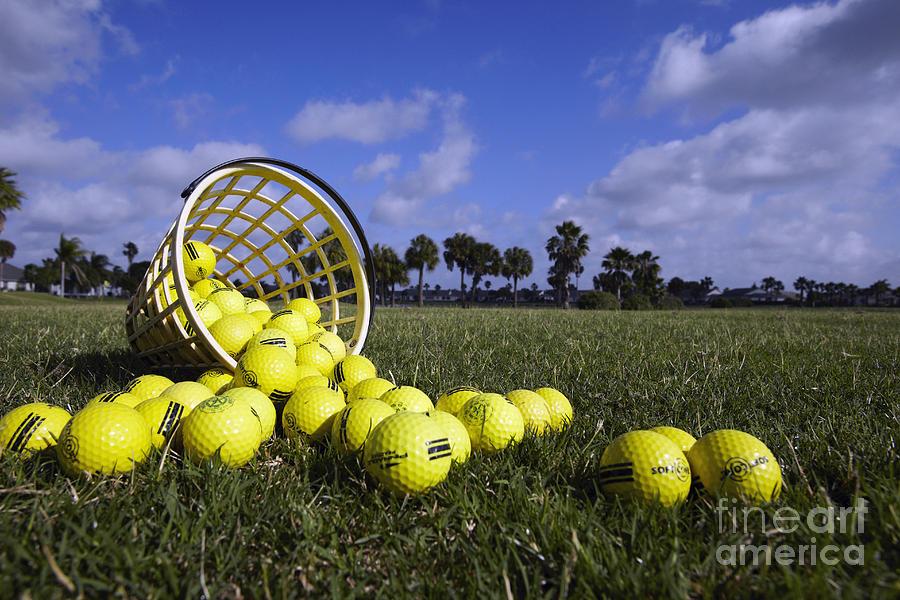Basket Of Golf Balls Photograph