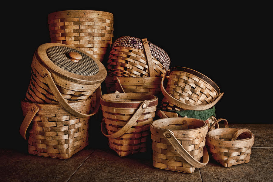 Basket Still Life 01 Photograph  - Basket Still Life 01 Fine Art Print