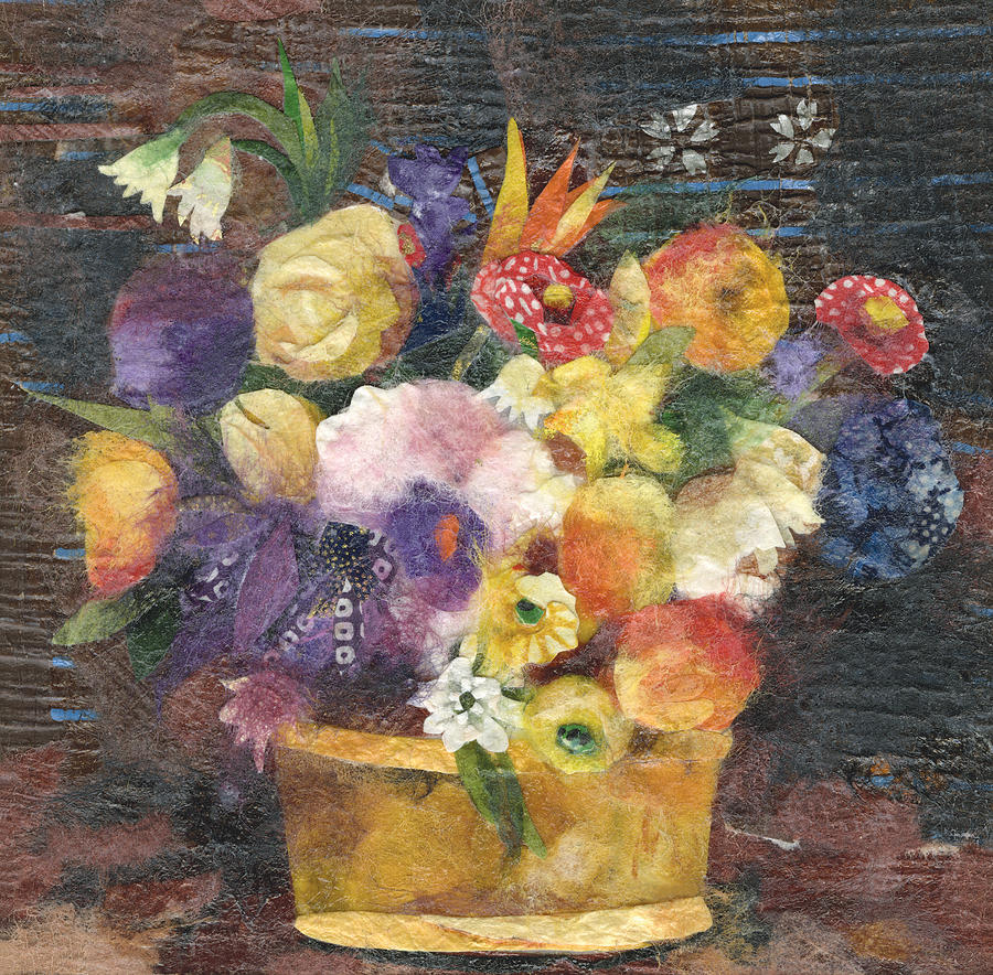 Basket With Flowers Painting