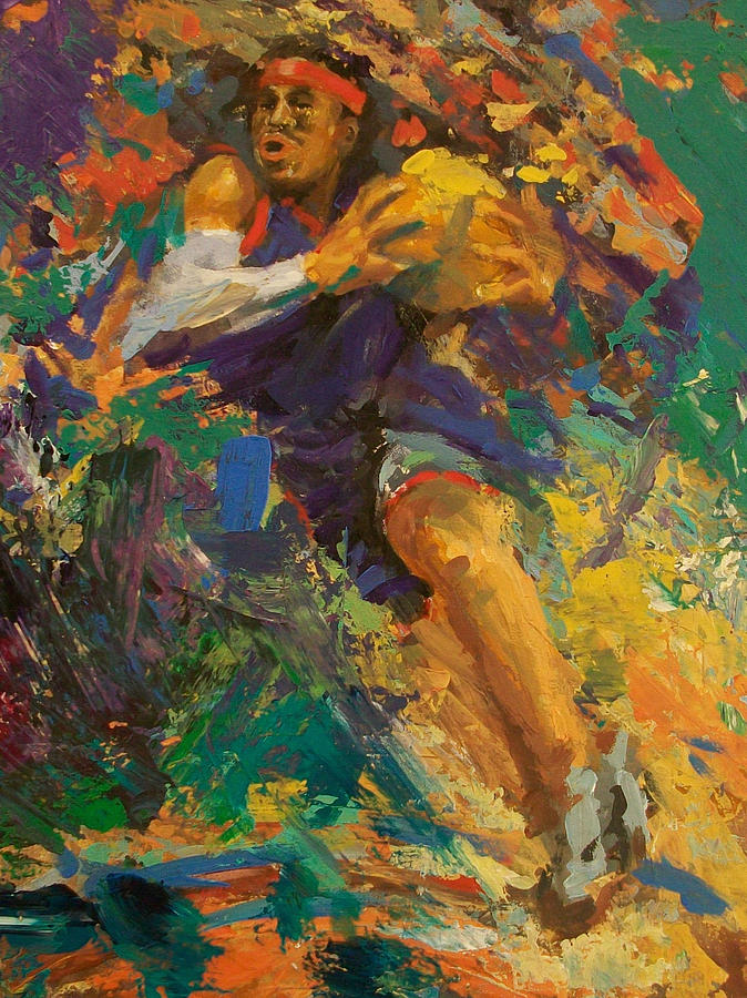 Basketball Ai Painting  - Basketball Ai Fine Art Print