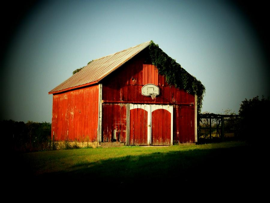 Basketball Barn Photograph  - Basketball Barn Fine Art Print