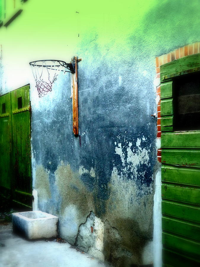 Basketball Court Photograph  - Basketball Court Fine Art Print
