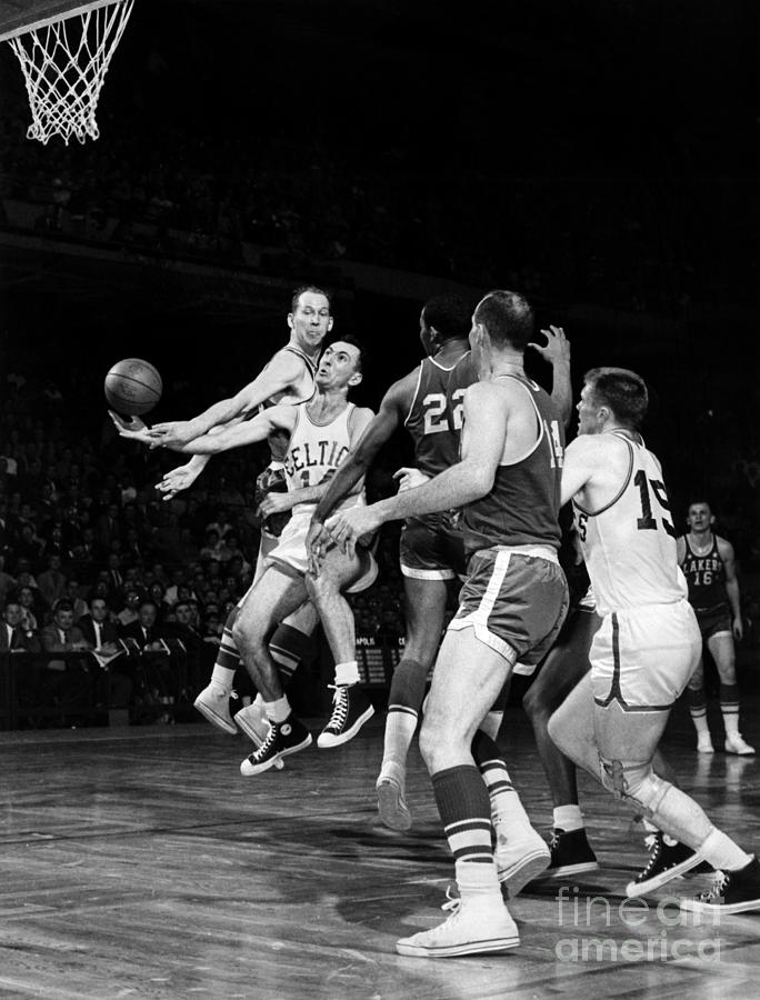 1960 Photograph - Basketball Game, C1960 by Granger