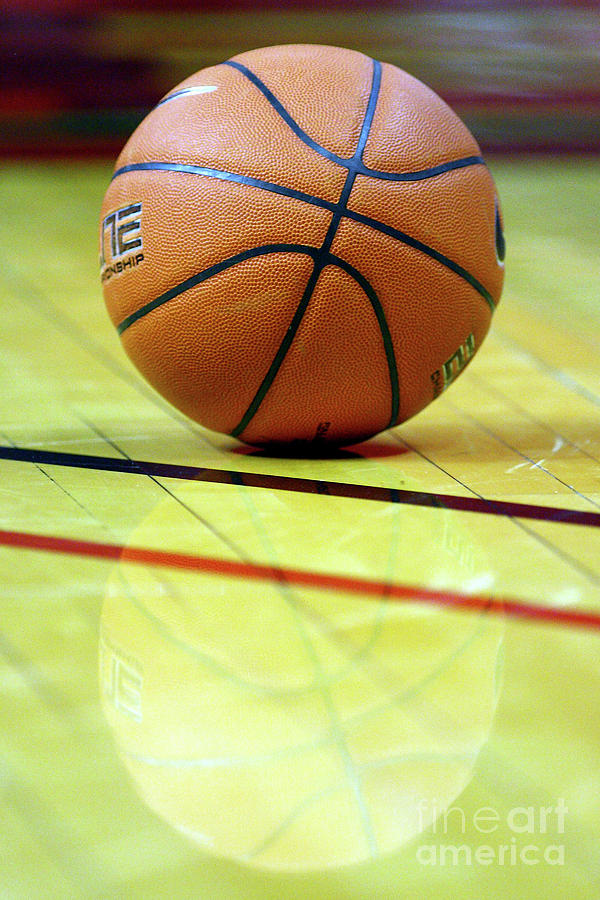 Basketball Reflections Photograph
