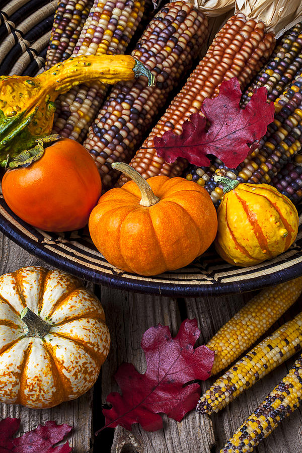 Basketful Of Autumn Photograph  - Basketful Of Autumn Fine Art Print