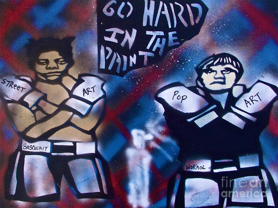 Basquait And Worhol Go Hard In The Paint Painting