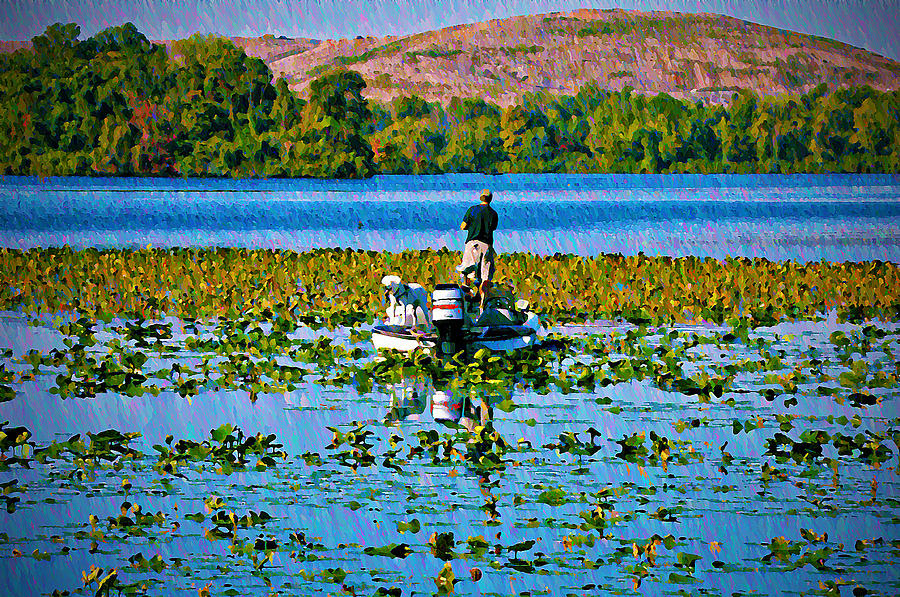 Bass Fishing Photograph