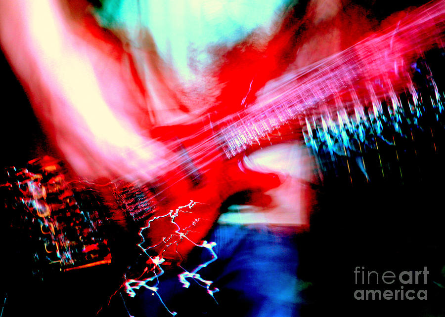 Rock'n Roll Digital Art - Bass Guitar 1 by Jason D Rogers