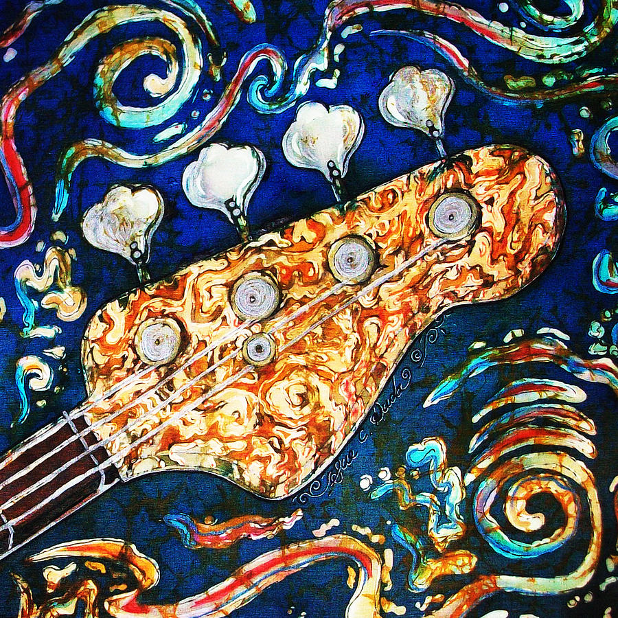 Bass Guitar 2 Painting  - Bass Guitar 2 Fine Art Print