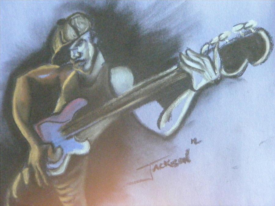 Bass Player Pastel