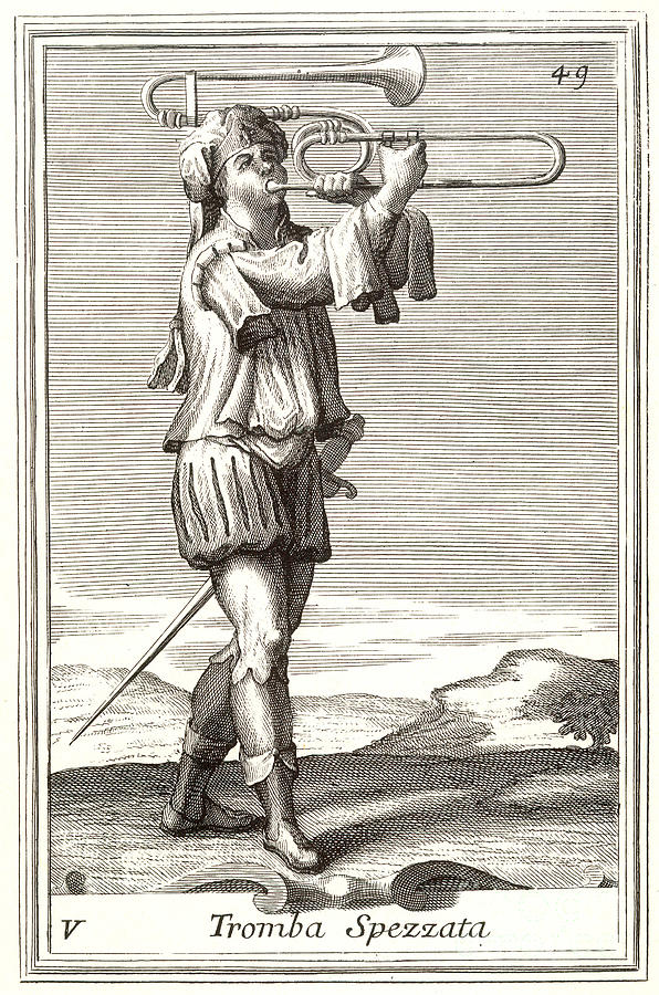 Bass Trombone, 1723 Photograph