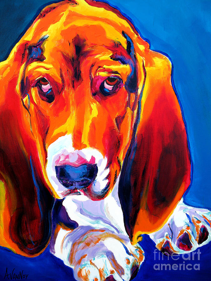 Basset - Ears Painting  - Basset - Ears Fine Art Print