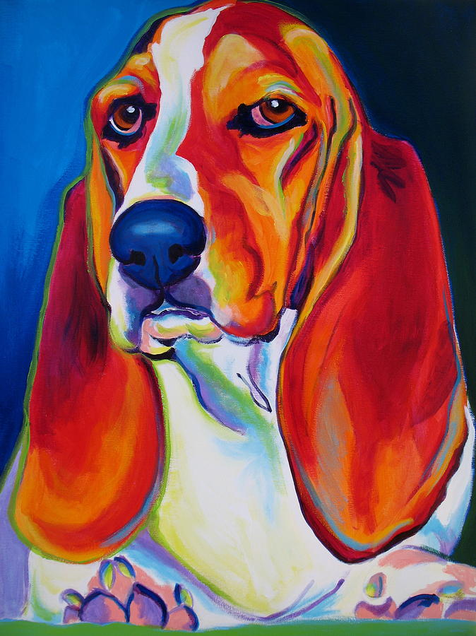 Basset Hound - Maple Painting  - Basset Hound - Maple Fine Art Print