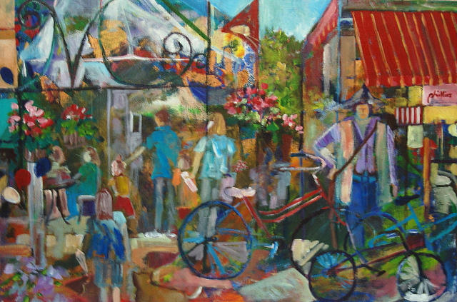 Expressionism Painting - Bastille Day In Media by Carol Mangano