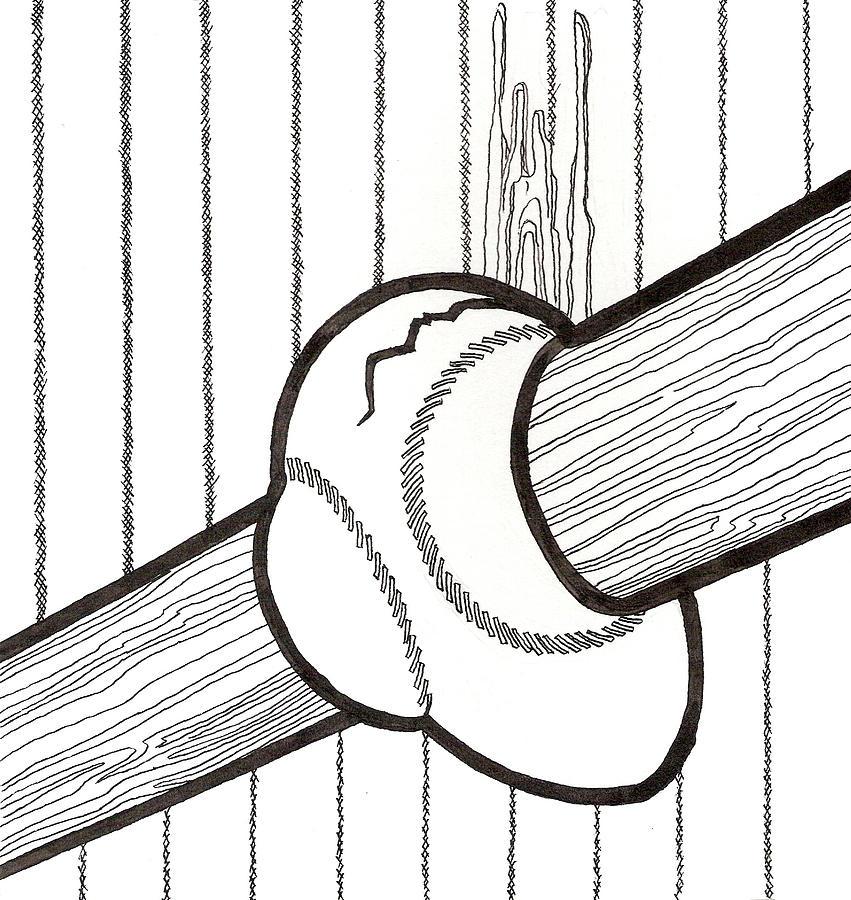 Bat And Ball Egg Drawing