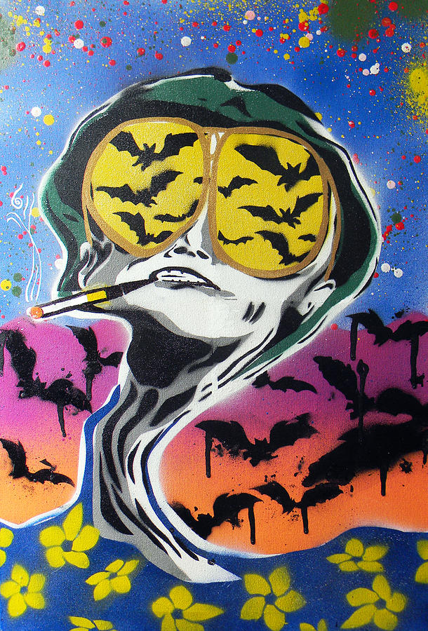 Bat Country Painting  - Bat Country Fine Art Print