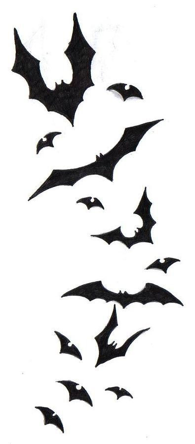 Bat Tattoo Design Drawing