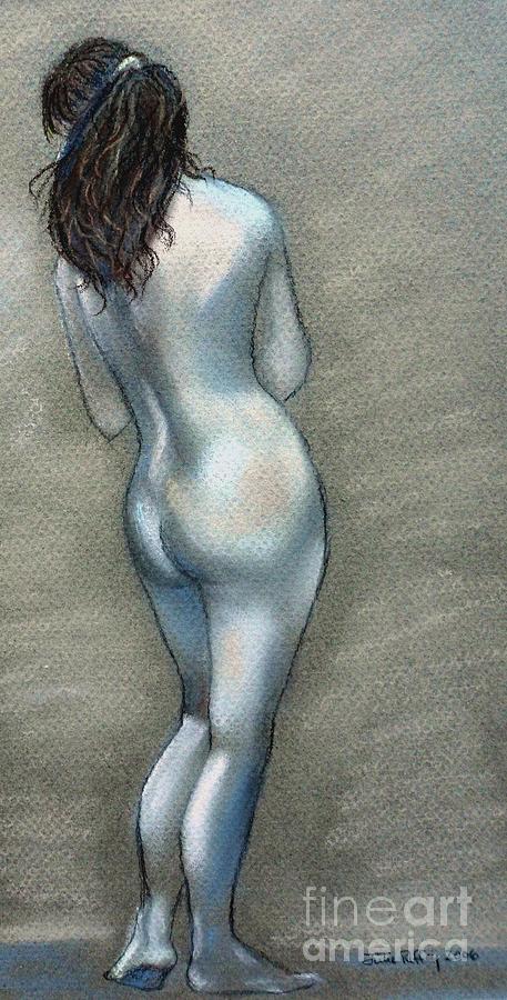 Nude Drawing - Bath Time by Julie Brugh Riffey
