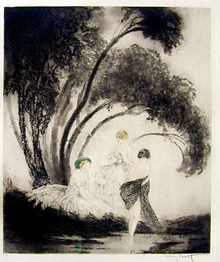 Bathers by louis icart for Design your own bathers