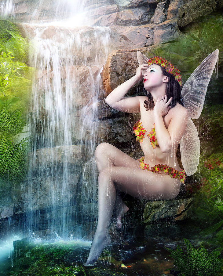 Bathing Berries Digital Art  - Bathing Berries Fine Art Print
