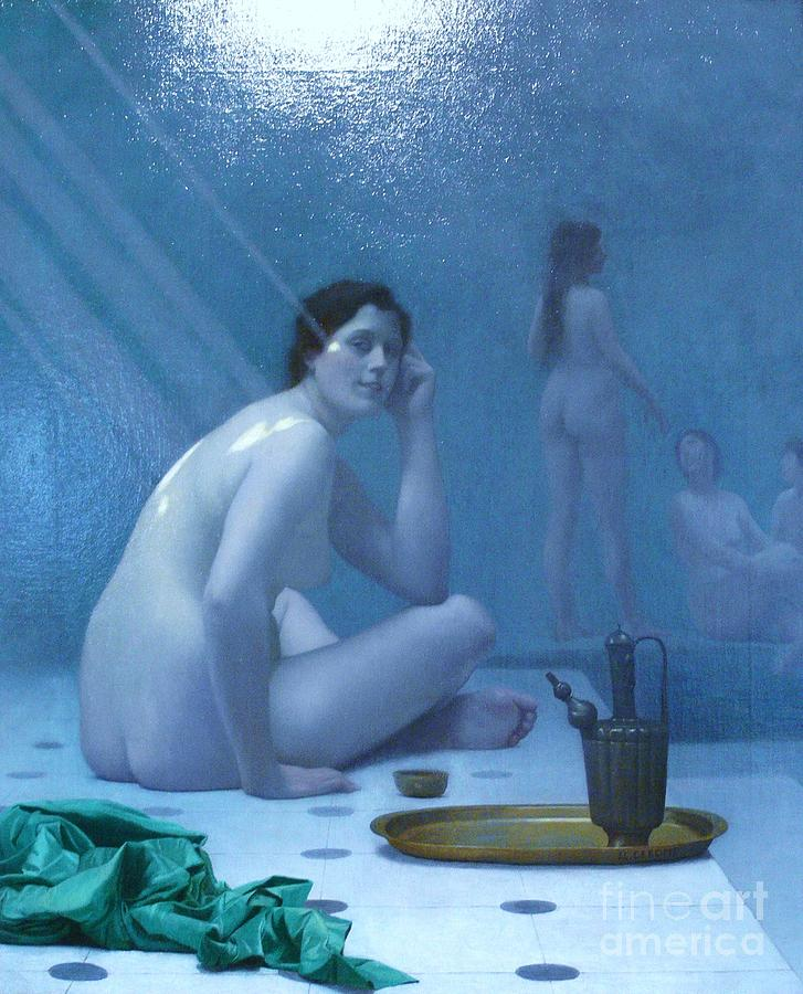 Bathing Women Painting  - Bathing Women Fine Art Print