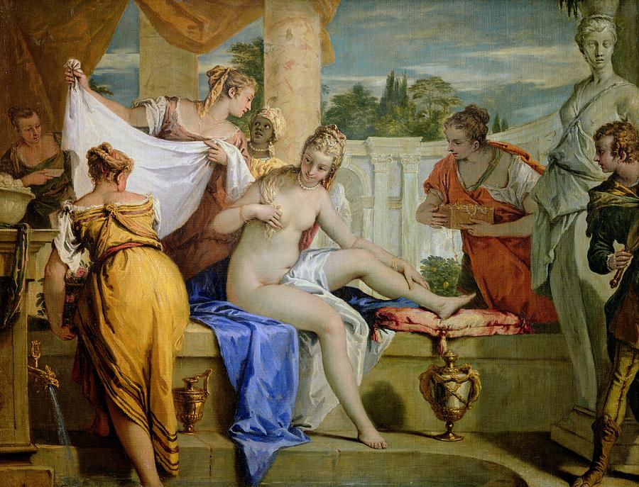 Bathsheba Bathing Painting