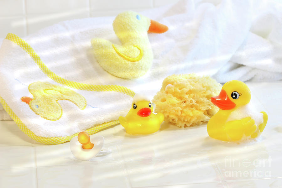 Bathtime For Baby Photograph  - Bathtime For Baby Fine Art Print