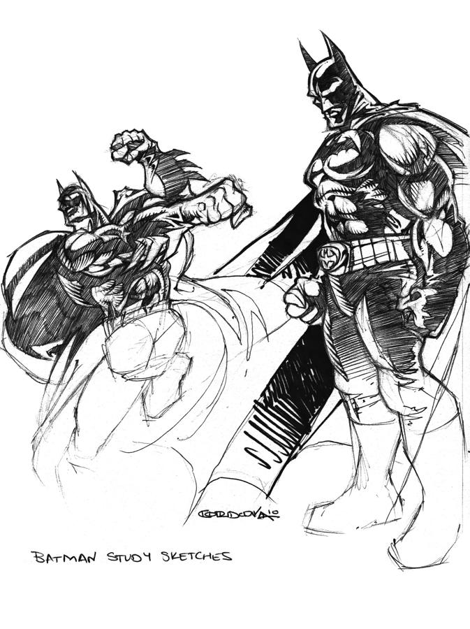 Batman Study Sketches By Isaac Cordova