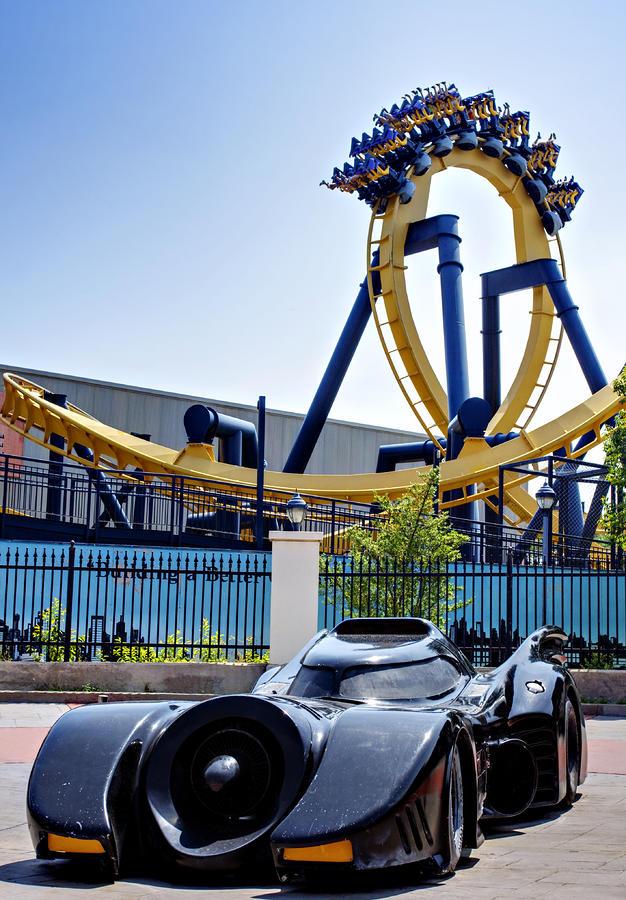 Batmans Ride And Batman - The Ride Photograph