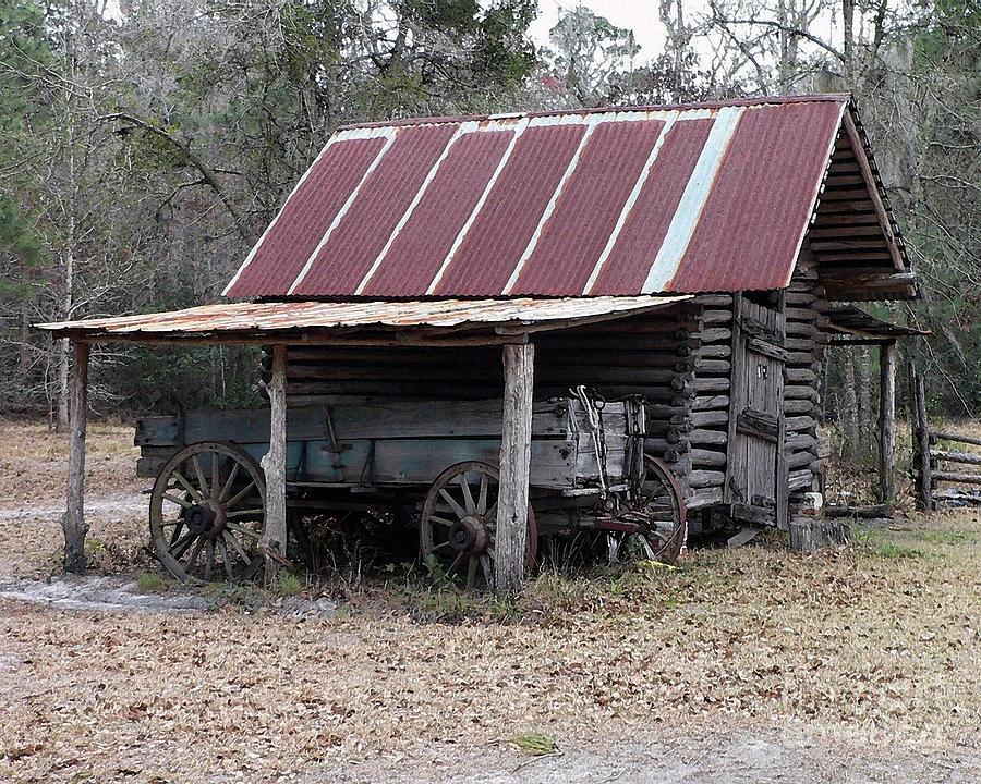 Battered Barn - Digital Art Photograph