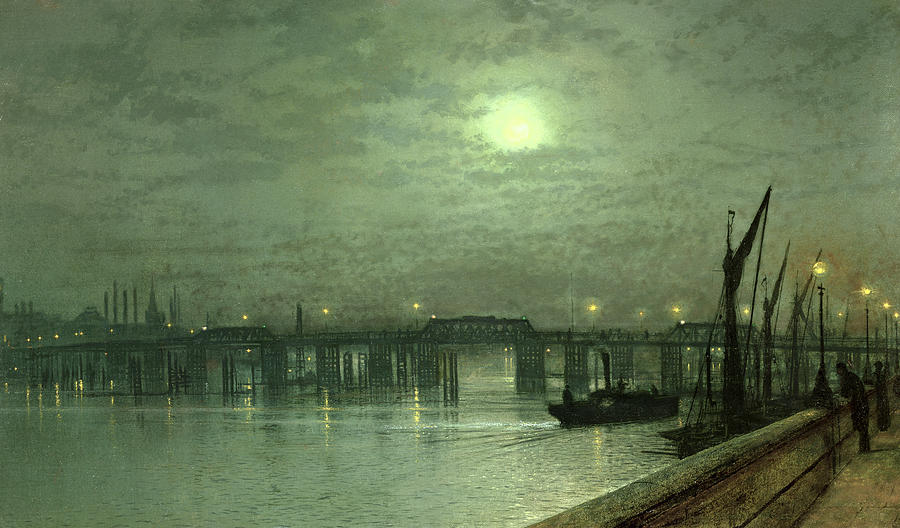 Battersea Bridge By Moonlight Painting  - Battersea Bridge By Moonlight Fine Art Print