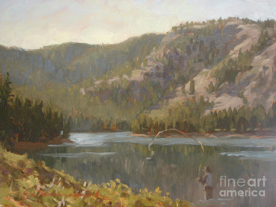 Battle Lake Painting  - Battle Lake Fine Art Print