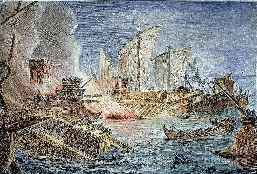 Battle of Actium Battle Of Actium 31 Bc by Granger