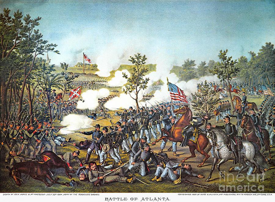 1864 Photograph - Battle Of Atlanta, 1864 by Granger
