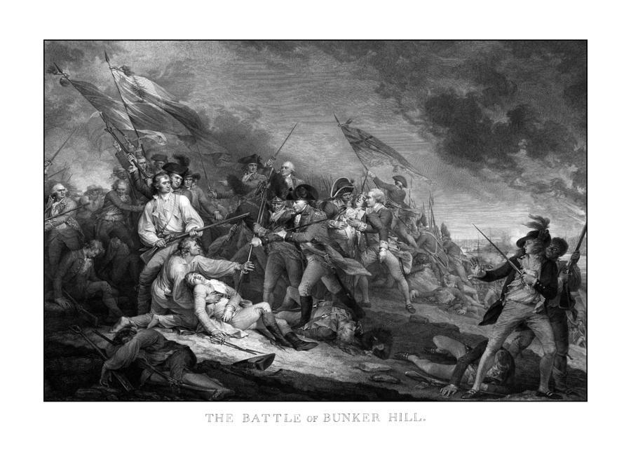 Battle Of Bunker Hill Drawing