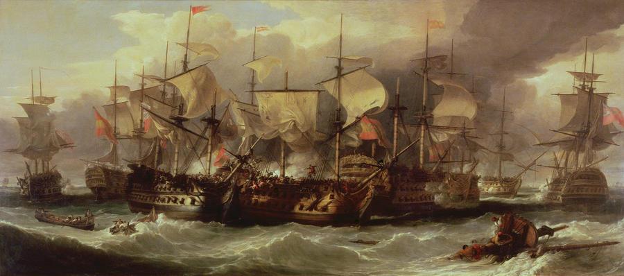 Battle Of Cape St Vincent Painting