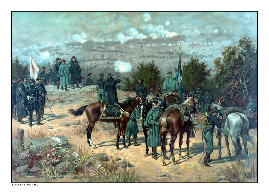 Battle Of Chattanooga Painting  - Battle Of Chattanooga Fine Art Print
