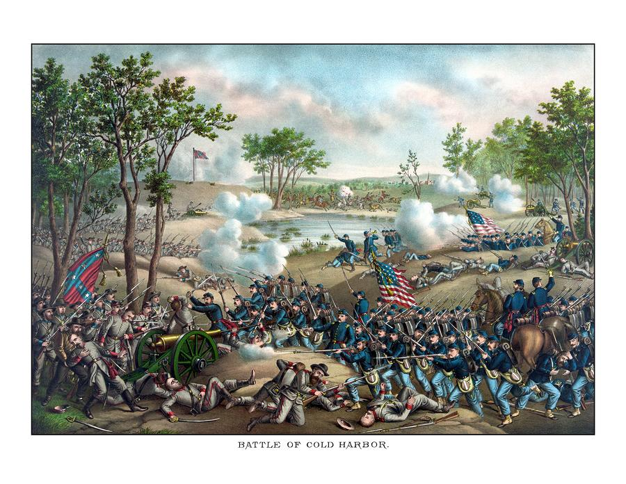 Battle Of Cold Harbor Painting  - Battle Of Cold Harbor Fine Art Print