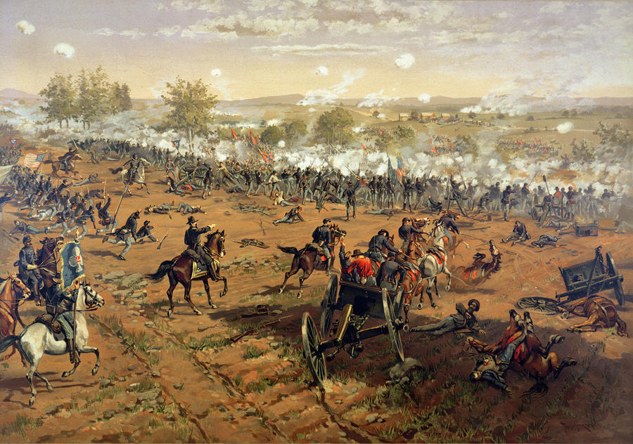Battle Of Gettysburg Painting