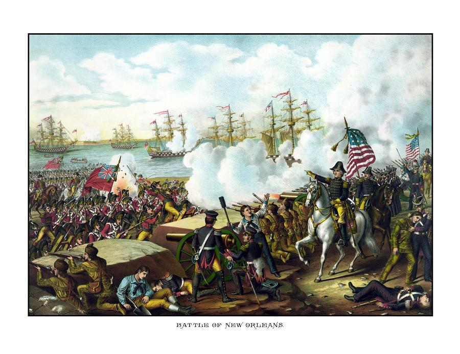Battle Of New Orleans Painting  - Battle Of New Orleans Fine Art Print