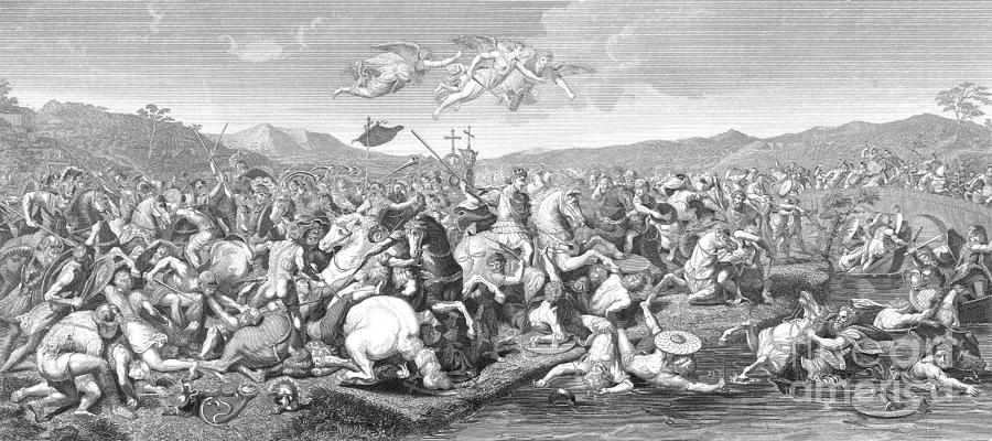 Battle Of The Milvian Bridge, 312 Ad Photograph