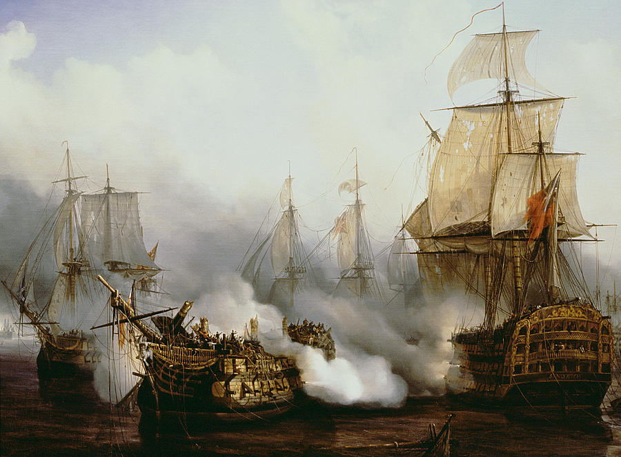 Battle Of Trafalgar Painting  - Battle Of Trafalgar Fine Art Print