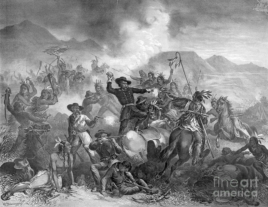 Battle On The Little Big Horn, 1876 Photograph  - Battle On The Little Big Horn, 1876 Fine Art Print